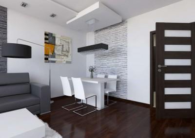 Projekt wnętrza salonu od JLT Design z Bydgoszczy