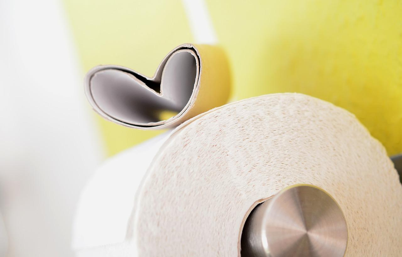 Rolki papieru toaletowego dla dekoracji wnętrza.